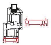 Rahmenverbreiterung für ALU-Türen der Stärke 78mm (40 x 78mm) (Flexible Türmontage)