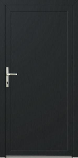 """Kunststoff Nebeneingangstür """"DIANA-Q"""" 70 mm (105 cm (B) x 218cm (H), B-Ware, Knick in Türblatt)"""