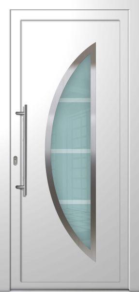"""LAGER Kunststoff Haustür """"ASTRID"""" 70mm Weiß (100 cm (B) x 210 cm (H), B-Ware. Kleine Kratzer)"""