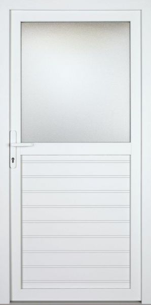 "Nebeneingangstür ""ANAIS"" 60mm (PVC, genutet, weiß)"