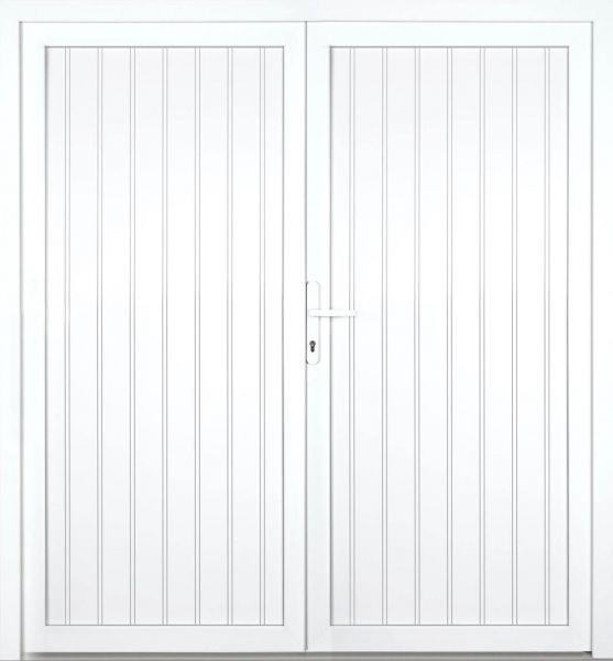 """Kunststoff Nebeneingangstür """"TANJA"""" 74mm 2-flügelig Doppeltür symmetrisch"""