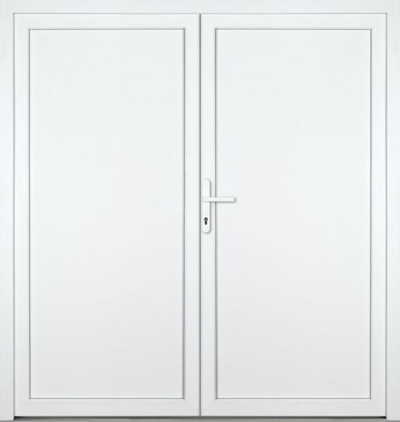 """Kunststoff Nebeneingangstür """"DIANA"""" 60mm 2-flügelig Doppeltür symmetrisch"""