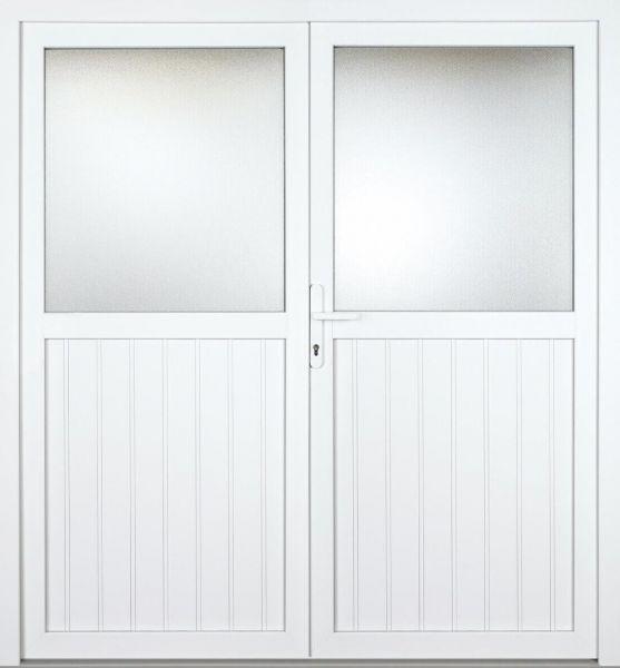 """Kunststoff Nebeneingangstür """"STEFANIE"""" 74mm 2-flügelig Doppeltür symmetrisch"""