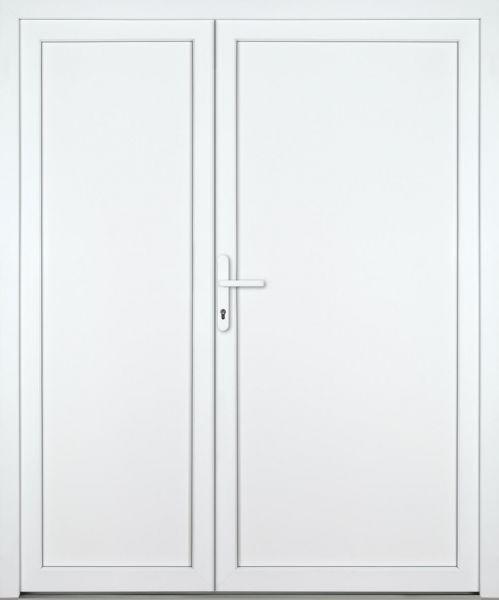 """Kunststoff-Aluminium Nebeneingangstür """"DIANA"""" 70mm 2-flügelig Doppeltür asymmetrisch"""