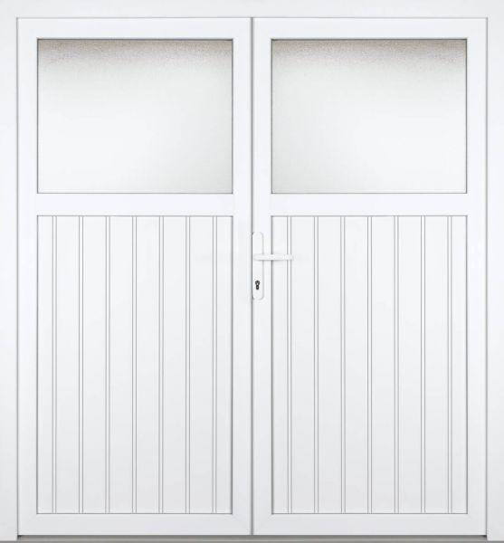 """Kunststoff Nebeneingangstür """"SANDRA"""" 70mm 2-flügelig Doppeltür symmetrisch"""