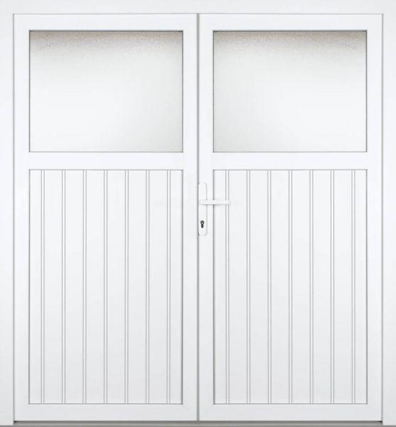 """Kunststoff Nebeneingangstür """"SANDRA"""" 60mm 2-flügelig Doppeltür symmetrisch"""