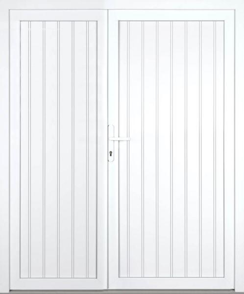"""Kunststoff Nebeneingangstür """"TANJA"""" 70mm 2-flügelig Doppeltür asymmetrisch"""